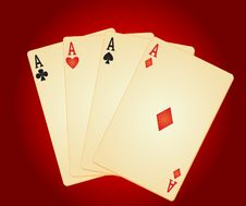 Free Four Aces. Stock Photography - 17740232