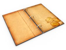Open The Menu - Diary Made Of Leather №2 Stock Images
