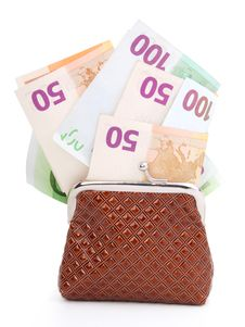 Free Euro Money In Purse Stock Photos - 17740773