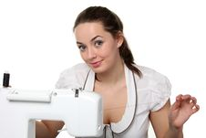 Free Seamstress Work On The Sewing-machine Stock Photos - 17741353