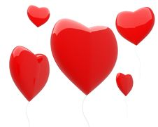 Free Heart-shaped Balloons Isolated Royalty Free Stock Photography - 17741857
