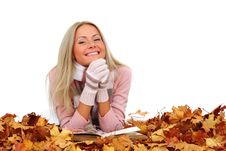 Free Autumn Woman Read In Studio Stock Photo - 17742500