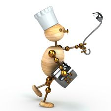 Free Wood Man Cook Stock Photos - 17742533