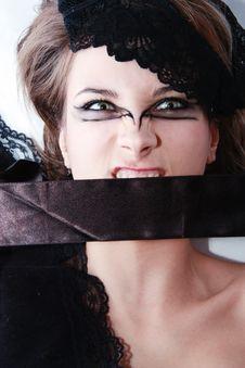 Free Fashion Beautiful Girl With Extraordinary Make Up Stock Photography - 17742612