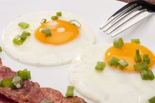 Free Fried Eggs Stock Photography - 17743092