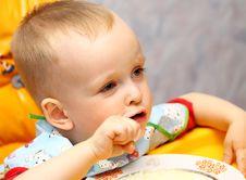 Free Little Boy Eating Royalty Free Stock Image - 17743396