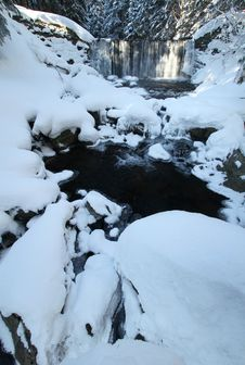 Free Winter Stream Stock Photography - 17744152