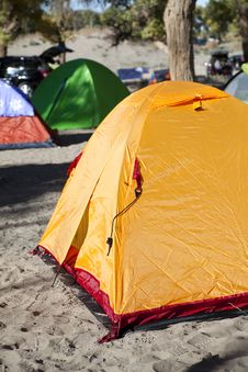 Free Campsite With Tent Stock Photography - 17745172