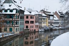 Free The Strasbourg Houses During Winter Stock Images - 17745384
