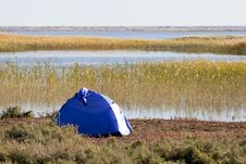 Free Campsite With Tent Royalty Free Stock Photography - 17745537