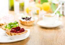 Free Fruit Dessert And Coffee Stock Photo - 17745930