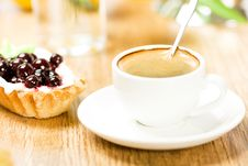 Free Fruit Dessert And Coffee Royalty Free Stock Photography - 17745967