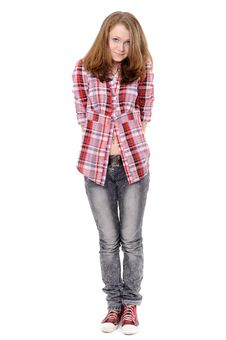 Free Portrait Of A Beautiful Teenager Royalty Free Stock Photos - 17746218
