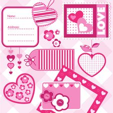 Free Valentine Scrapbook Elements Stock Photo - 17746880