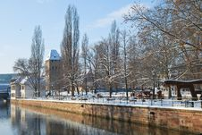 Free Quay Of Strasbourg During Winter Royalty Free Stock Image - 17746996