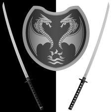 Free Fantasy Shield And Swords Stock Photos - 17747033