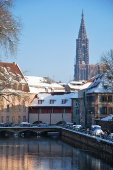 Free The Winter On Strasbourg Quay Stock Photography - 17747062