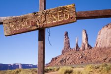 Three Sisters At Monument Valley Stock Photos