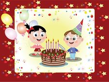 Free Birthday Postcard Royalty Free Stock Images - 17747499