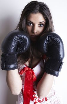 Free Boxing Woman Royalty Free Stock Image - 17747966