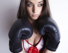 Free Boxing Woman Royalty Free Stock Image - 17747976