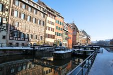 Free Reflections Of Strasbourg During Winter Royalty Free Stock Photography - 17748897