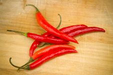 Free Red Chili Peppers Stock Photography - 17749012