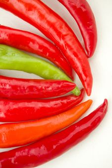 Free Red And Green Spicy Chili Peppers Stock Image - 17749091