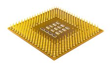 Processor With Pins Stock Image