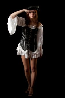 Pirate Young Woman Stock Photography