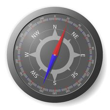 Free Metal Compass Royalty Free Stock Photo - 17749505