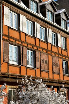 Free The Strasbourg Houses During Winter Stock Photography - 17749762