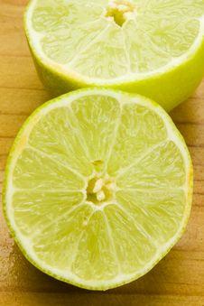 Free Lime Fruit Halves Royalty Free Stock Image - 17749846