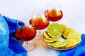 Free Three Glasses Of Brandy Royalty Free Stock Image - 17751786