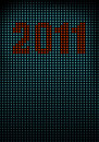 Free Led Wall With Numbers 2011 Royalty Free Stock Photo - 17753035