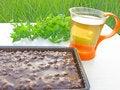 Free Herbal Tea And Chocolate Cake Stock Image - 17753151