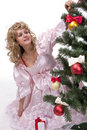 Free Pretty Girl Stand Near A Christmas Tree Stock Photography - 17754522