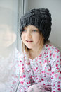 Free Adorable Little Girl In Grey Knit Stock Images - 17755244