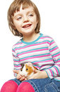Free Little Girl Four Years Old And Guinea Pig Royalty Free Stock Photography - 17758227