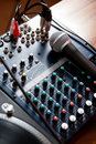 Free Vocal Microphone On Sound Mixer Royalty Free Stock Images - 17758229