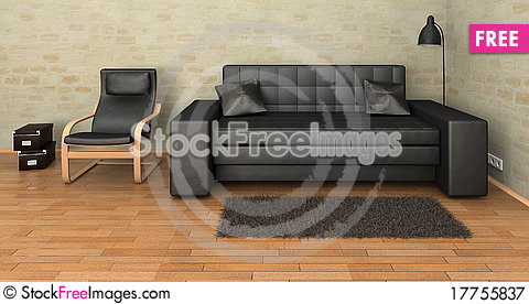 Free Interior Leather Sofa Royalty Free Stock Photography - 17755837