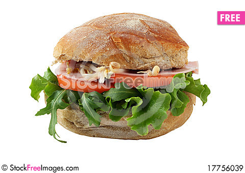 Bean Sprout Sandwich With Ham And Bean Sprout