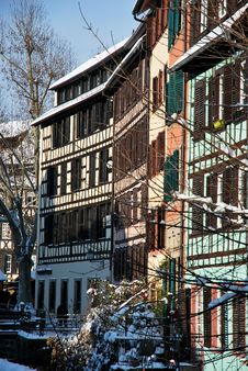 Free Strasbourg Houses During Winter Stock Photography - 17750152