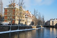 Free Quay Of Strasbourg During Winter Royalty Free Stock Images - 17750559