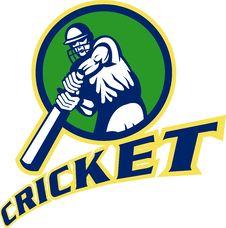 Free Cricket Batsman Batting Stock Photo - 17750740