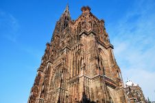 The Cathedral Of Strasbourg Royalty Free Stock Photography
