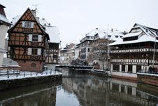 Free The Houses Reflection In Strasbourg During Winter Stock Image - 17751681