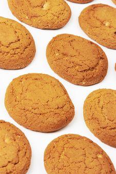 Free Cookie On White Royalty Free Stock Photos - 17751688