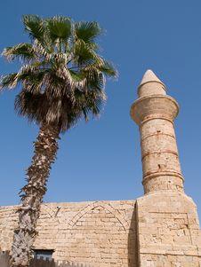Oriental Muslim Mosque Tower Royalty Free Stock Photos