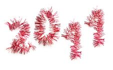 Free 2011 In Red Tinsel Stock Image - 17752771